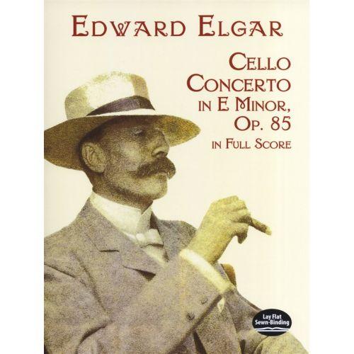 DOVER ELGAR EDWARD - CELLO CONCERTO IN E MINOR IN FULL SCORE - CELLO