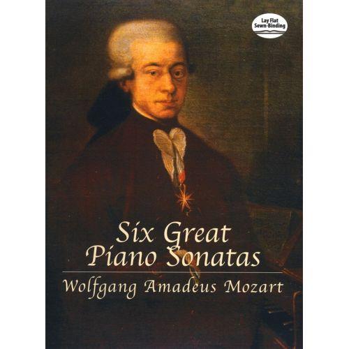 DOVER MOZART WA SIX GREAT PIANO SONATAS - PIANO SOLO