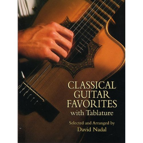DOVER CLASSICAL GUITAR FAVORITES WITH TABLATURE - GUITAR TAB