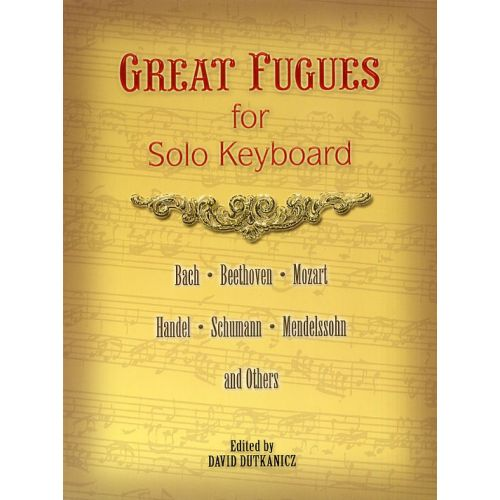 DOVER GREAT FUGUES FOR SOLO KEYBOARD - PIANO SOLO