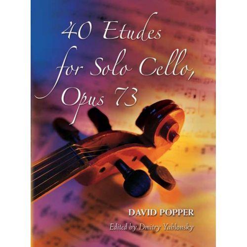 DOVER DAVID POPPER 40 ETUDES FOR SOLO CELLO OP.73 - CELLO
