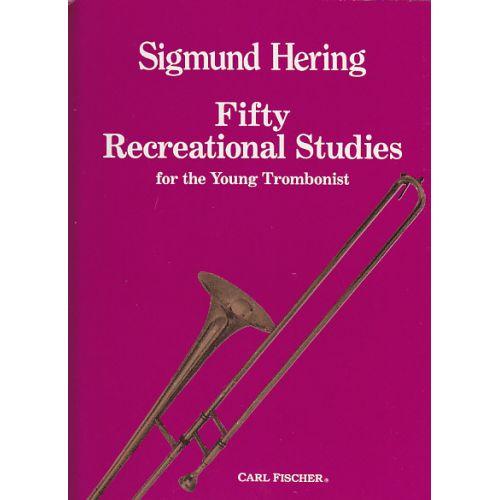CARL FISCHER HERING - 50 RECREATIONAL STUDIES - TROMBONE