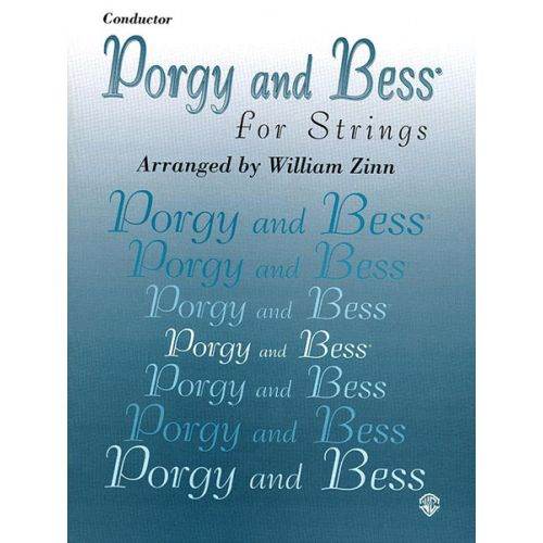 ALFRED PUBLISHING GERSHWIN GEORGE - PORGY AND BESS FOR STRINGS - SCORE