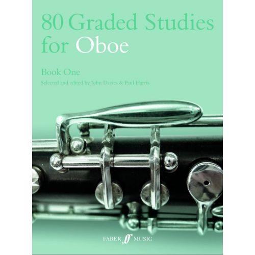 FABER MUSIC DAVIES J / HARRIS P - 80 GRADED STUDIES FOR OBOE. BOOK 1 - OBOE