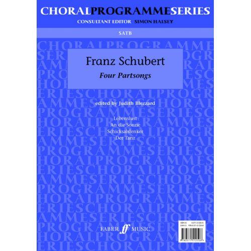 FABER MUSIC SCHUBERT FRANZ - FOUR PARTSONGS - MIXED VOICES SATB (PAR 10 MINIMUM)