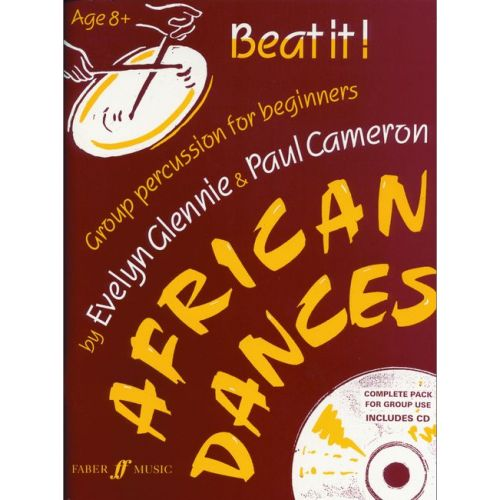 FABER MUSIC GLENNIE E / CAMERON P - BEAT IT! AFRICAN DANCES + CD - PERCUSSION