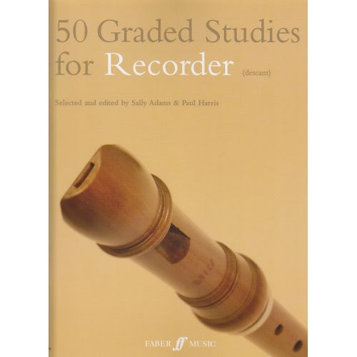 FABER MUSIC 50 GRADED STUDIES FOR RECORDER