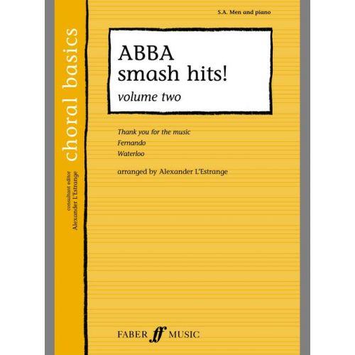 FABER MUSIC L'ESTRANGE A. - ABBA SMASH HITS! - CHORAL BASICS - MIXED VOICES (PAR 10 MINIMUM)