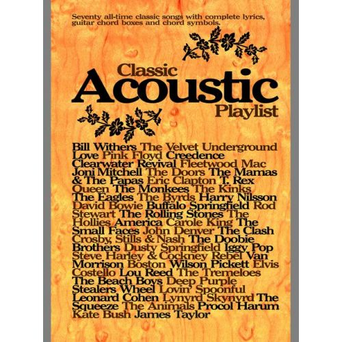 FABER MUSIC CLASSIC ACOUSTIC PLAYLIST - CHORD SONGBOOKS