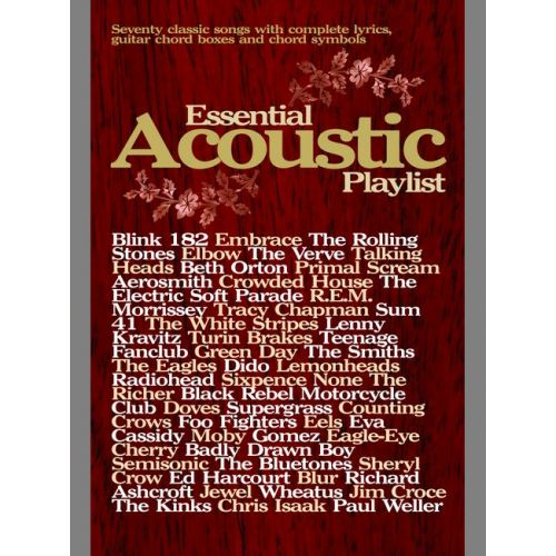 FABER MUSIC ESSENTIAL ACOUSTIC PLAYLIST (GUITAR) - CHORD SONGBOOKS
