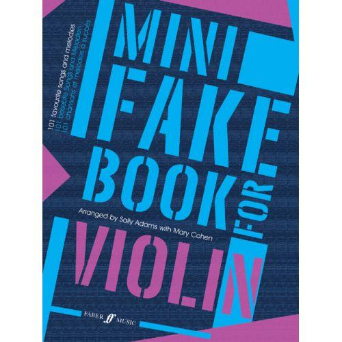 FABER MUSIC ADAMS SALLY / COHEN MARY - MINI FAKE BOOK - VIOLIN SOLO