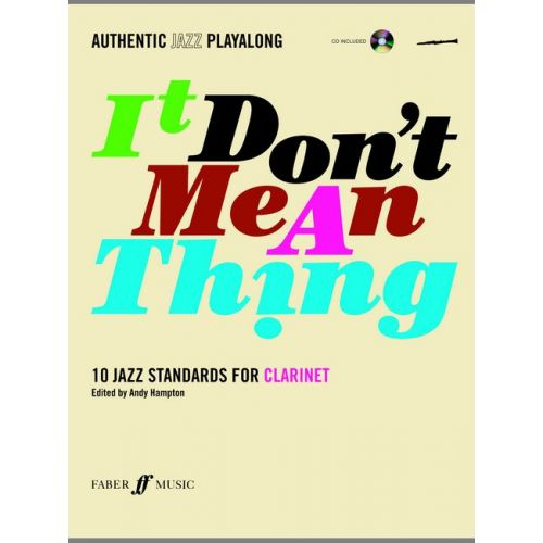 FABER MUSIC HAMPTON ANDY - IT DON'T MEAN A THING + CD - CLARINET AND PIANO