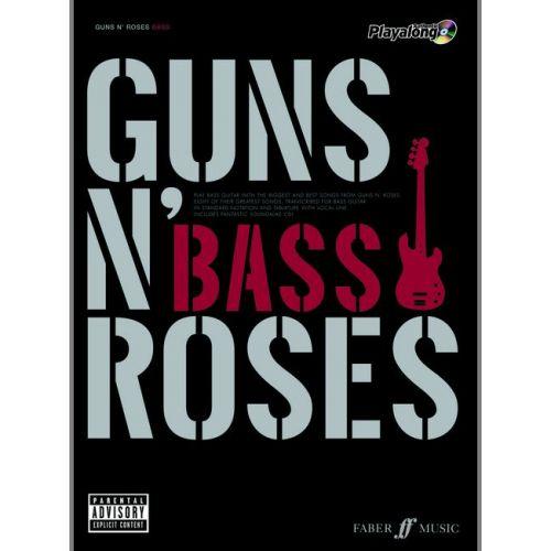FABER MUSIC GUNS N' ROSES - AUTHENTIC BASS PLAYALONG + CD - BASS