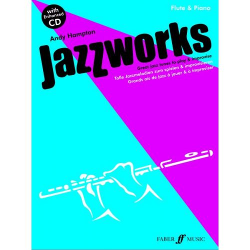 FABER MUSIC HAMPTON ANDY - JAZZWORKS + CD - FLUTE