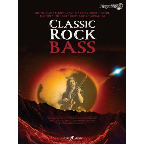 FABER MUSIC CLASSIC ROCK AUTHENTIC BASS PLAYALONG + CD - BASS