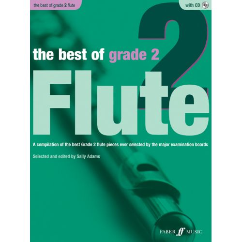FABER MUSIC ADAMS SALLY - BEST OF GRADE 2 + CD - FLUTE AND PIANO