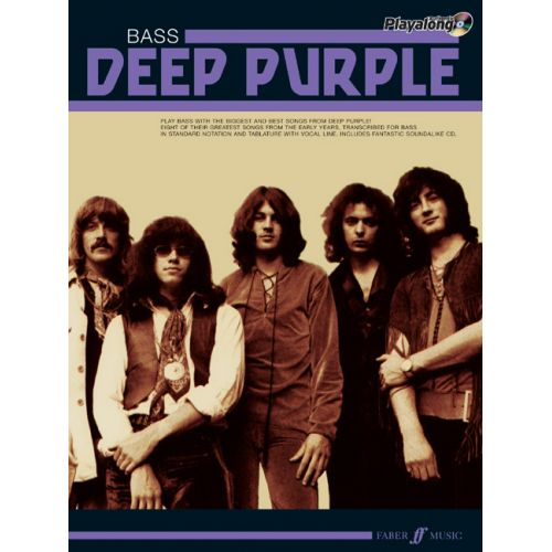 FABER MUSIC DEEP PURPLE - AUTHENTIC BASS PLAYALONG + CD - BASS