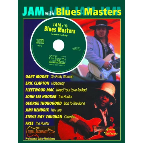FABER MUSIC JAM WITH THE BLUES MASTERS + CD - GUITAR TAB