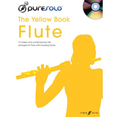 FABER MUSIC PURESOLO YELLOW BOOK + CD - FLUTE