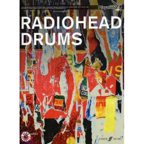 FABER MUSIC RADIOHEAD - AUTHENTIC DRUMS PLAYALONG + CD
