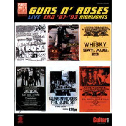 CHERRY LANE GUNS N'ROSES - LIVE ERA 87-93 - TAB