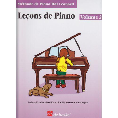 HAL LEONARD METHODE DE PIANO HAL LEONARD, LES LEÇONS DE PIANO VOL.2