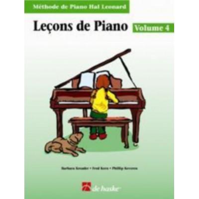 DEHASKE LEÇONS DE PIANO VOL.4 + CD - METHODE DE PIANO HAL LEONARD