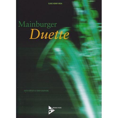 ADVANCE MUSIC KOCH C. H. - MAINBURGER DUETTE - SAXOPHONES