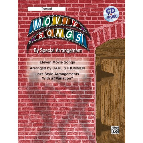 ALFRED PUBLISHING MOVIE SONGS BY SPECIAL ARRANGEMENT + CD - TRUMPET AND PIANO