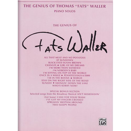 ALFRED PUBLISHING WALLER FATS - THE GENIUS OF