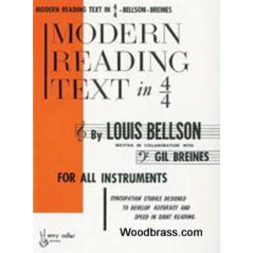 WARNER BROS BELLSON LOUIS - MODERN READING TEXT IN 4/4 TIME