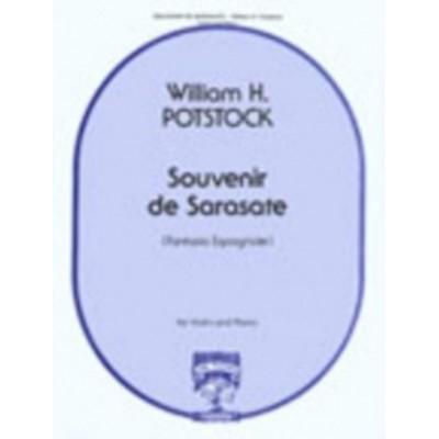 CARL FISCHER POTSTOCK WILLIAM H. - SOUVENIR DE SARASATE - VIOLON & PIANO