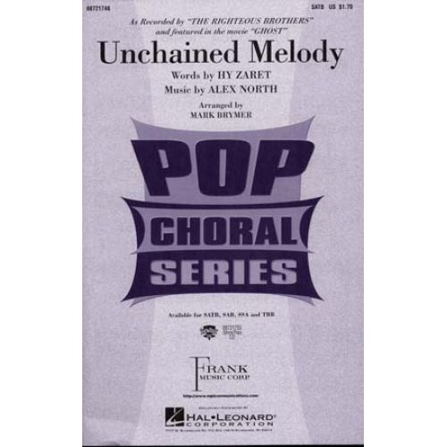 HAL LEONARD NORTH ALEX - UNCHAINED MELODY - FORMAT