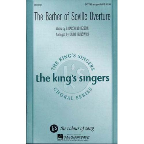 HAL LEONARD ROSSINI - KING'S SINGERS BARBER OF SEVILLE OVERTURE - FORMAT
