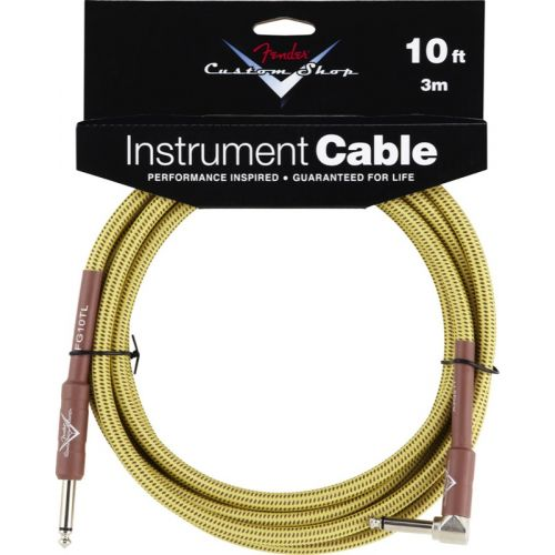 FENDER CUSTOM SHOP SERIES CABLE 10' ANGLE TWEED