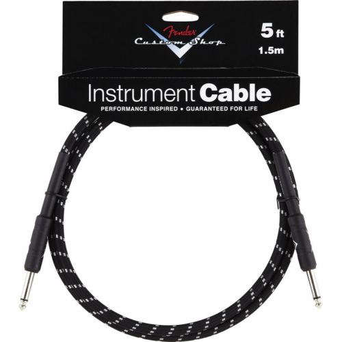 FENDER CUSTOM SHOP SERIES CABLE 5' BLACK TWEED