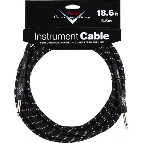 FENDER CUSTOM SHOP SERIES CABLE 18.6' BLACK TWEED