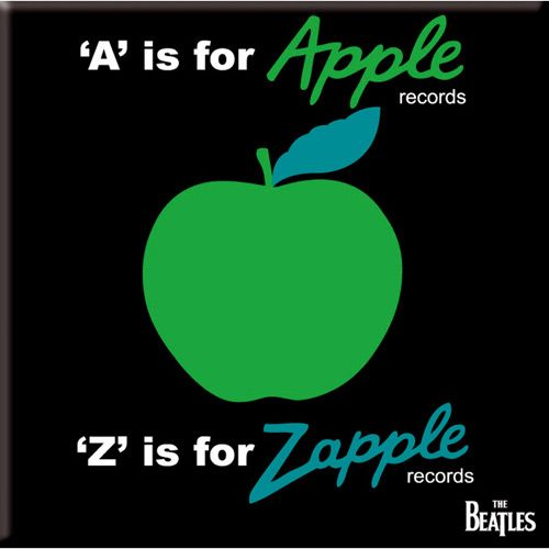 WOODBRASS CLUB MAGNET AIMANT BEATLES MOTIF: A IS FOR APPLE - 7,6 CM X 7,6 CM