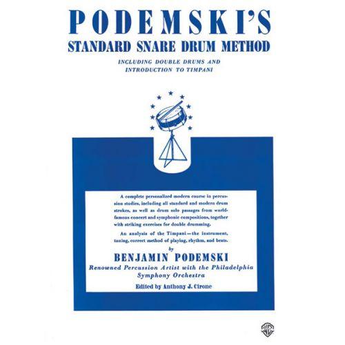 ALFRED PUBLISHING PODEMSKI B. - PODEMSKI'S STANDARD SNARE DRUM METHOD - DRUM