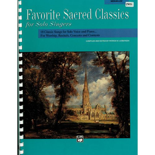 ALFRED PUBLISHING LIEBERGEN PATRICK - FAVORITE SACRED CLASSICS - MEDIUM AND LOW VOICE (PER 10 MINIMUM)