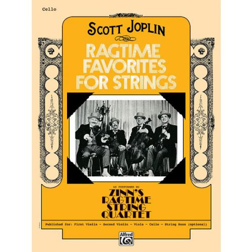 ALFRED PUBLISHING RAGTIME FAVORITES - CELLO SOLO
