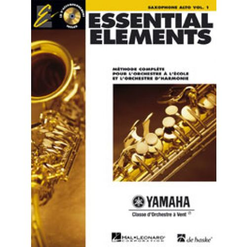 HAL LEONARD ESSENTIAL ELEMENTS VOL.1 + CD - SAXOPHONE ALTO