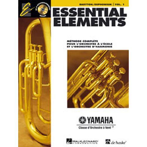 HAL LEONARD ESSENTIAL ELEMENTS VOL.1 + CD - BARYTON, EUPHONIUM, SAXHORN