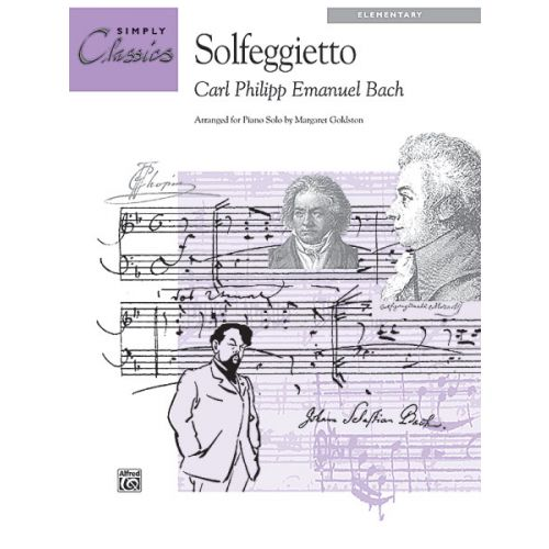 ALFRED PUBLISHING BACH C.P.E. - SOLFEGGIETTO - PIANO SOLO