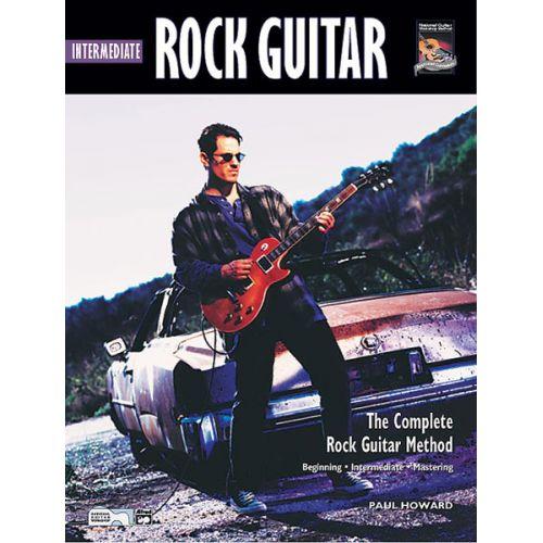 ALFRED PUBLISHING HOWARD PAUL - INTERMEDIATE ROCK GUITAR + CD - GUITAR