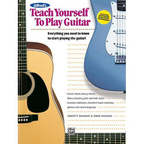 ALFRED PUBLISHING MANUS MORTON - TEACH YOURSELF TO PLAY GUITAR BOOK + CD - GUITAR