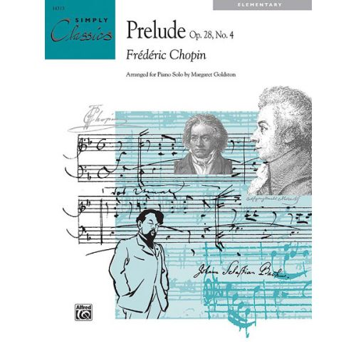 ALFRED PUBLISHING CHOPIN FREDERIC - PRELUDE OP28 NO4 - PIANO SOLO