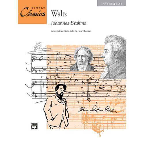 ALFRED PUBLISHING BRAHMS JOHANNES - WALTZ - PIANO SOLO