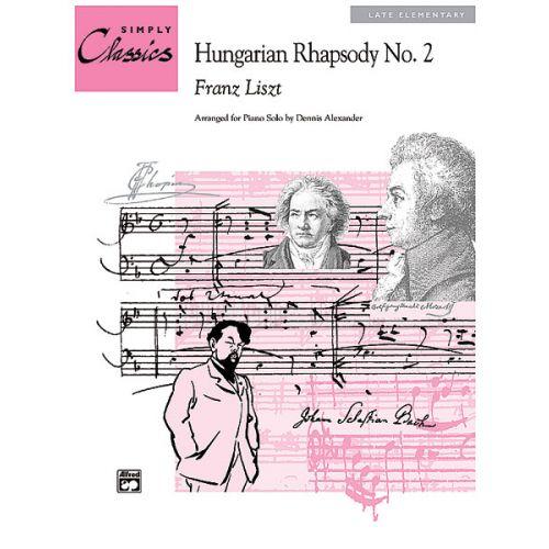 ALFRED PUBLISHING LISZT FRANZ - HUNGARIAN RHAPSODY NO2 - PIANO SOLO