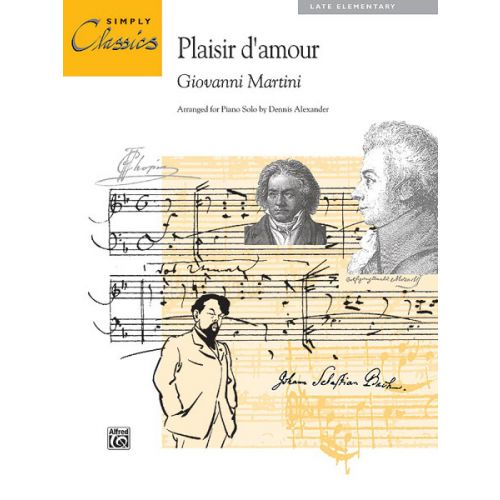 ALFRED PUBLISHING MARTINI G. - PLASIR D'AMOUR - PIANO SOLO